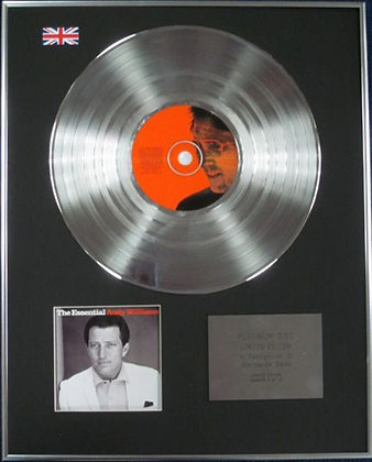 ANDY WILLIAMS - Limited Edition CD Platinum Disc - ESSENTIAL ANDY WILLIAMS