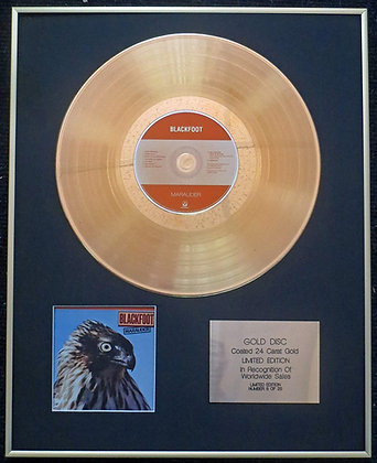 Blackfoot - Exclusive Limited Edition 24 Carat Gold Disc - Marauder