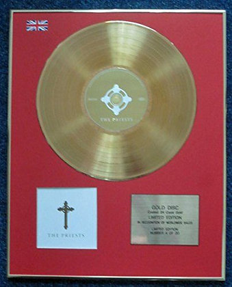 The Priests - Limited Edition CD 24 Carat Gold Coated LP Disc - 'The Priests'