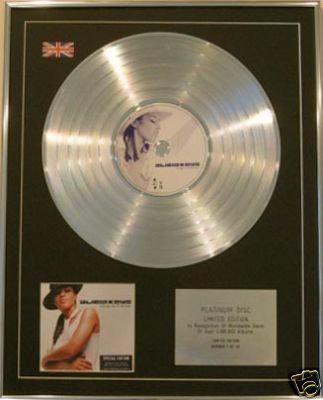 ALICIA KEYS Ltd Edt CD Platinum Disc-SONGS IN A MINOR