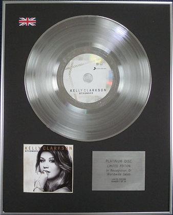 KELLY CLARKSON - CD Platinum Disc - STRONGER