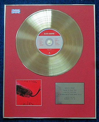 Alice Cooper - Limited Edition CD 24 Carat Gold Coated LP Disc - Killer