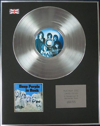 DEEP PURPLE - Limited Edition CD Platinum Disc - DEEP PURPLE IN ROCK