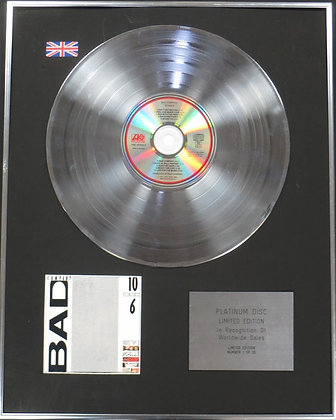 BAD COMPANY - Limited Edition CD Platinum Disc - 10 FROM 6