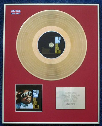 CEE LO GREEN - CD 24 Carat Gold Coated LP Disc - THE LADY KILLER