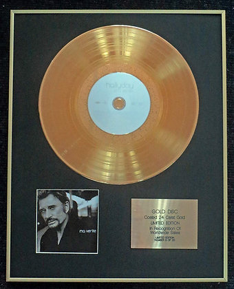 Johnny Hallyday - Exclusive Limited Edition 24 Carat Gold Disc - Ma vérité