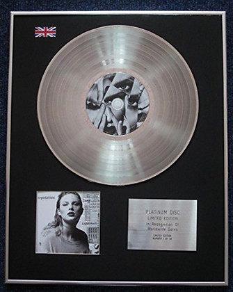 Taylor Swift - Limited Edition CD Platinum LP Disc - Reputation