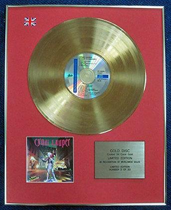 Cyndi Lauper - LTD Edition CD 24 Carat Gold Coated LP Disc - A night to�