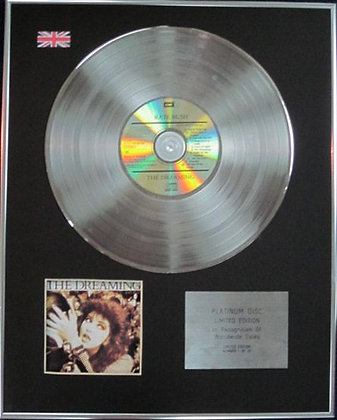 KATE BUSH - Limited Edition CD Platinum Disc - THE DREAMING