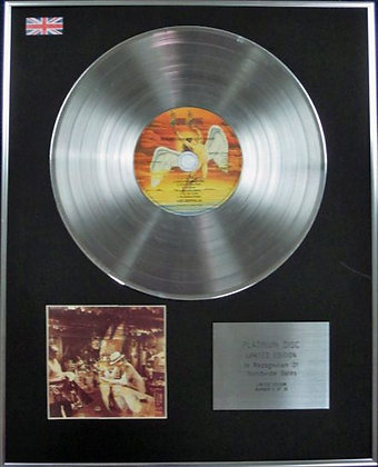 LED ZEPPELIN - CD Platinum Disc - IN THROUGH THE OUTDOOR (with cover 1)