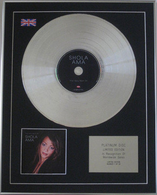 SHOLA AMA - Limited Edition CD Platinum Disc - THE VERY BEST OF
