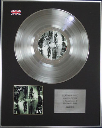 ASH - Limited Edition CD Platinum Disc - 1977