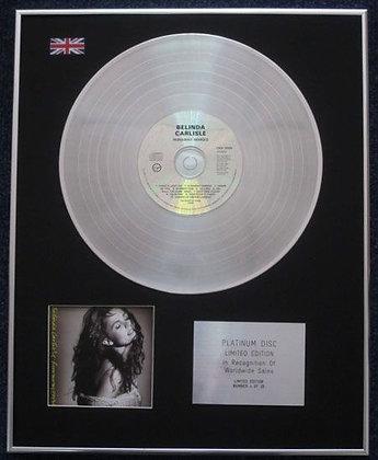 BELINDA CARLISLE - Limited Edition CD Platinum LP Disc - RUNAWAY HORSES