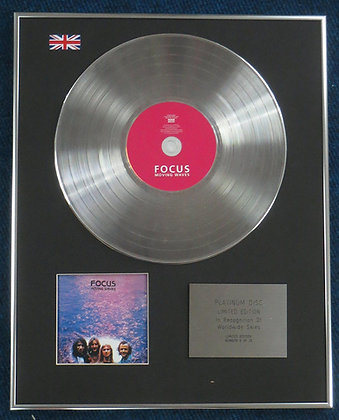 FOCUS - Limited Edition CD Platinum LP Disc - MOVING WAVES