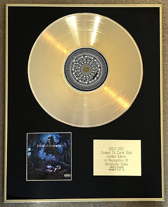 AVENGED SEVENFOLD - Limited Edition CD 24 Carat Gold Coated LP Disc - NIGHTMARE
