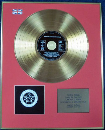 SISTERS OF MERCY - Ltd Edition CD 24 Carat Coated Gold Disc - SOME GIRLS…