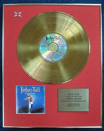 Jethro Tull - Limited Edition CD 24 Carat Gold Coated LP Disc - Original Masters