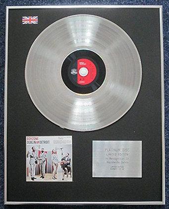 Boyzone - Limited Edition CD Platinum LP Disc - Dublin to Detroit