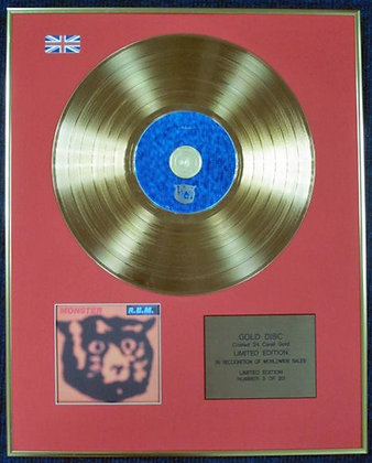 R.E.M. - Ltd Edition CD 24 Carat Coated Gold Disc - MONSTER