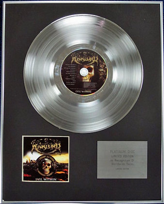 WARLORD - Limited Edition CD Platinum Disc - EVIL WITHIN