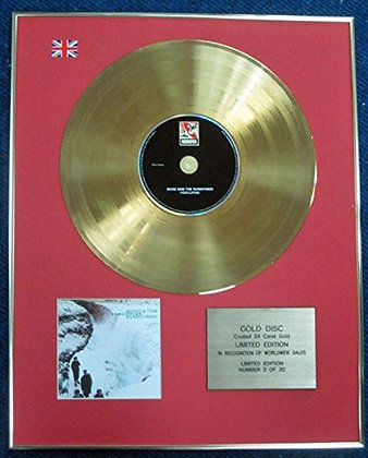 Echo & the Bunnymen - LTD Edition CD 24 Carat Gold Coated LP Disc - Porcupine