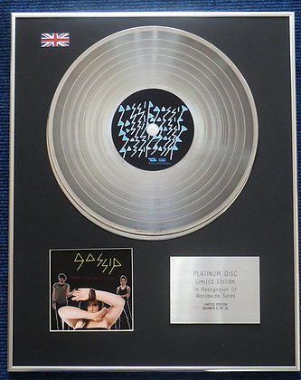 Gossip - Limited Edition CD Platinum LP Disc - Gossip