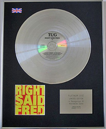 RIGHT SAID FRED - CD Platinum Disc - UP