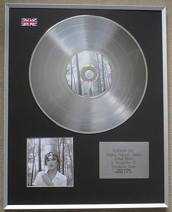 TAYLOR SWIFT – Limited Edition CD Platinum Disc – FOLKLORE