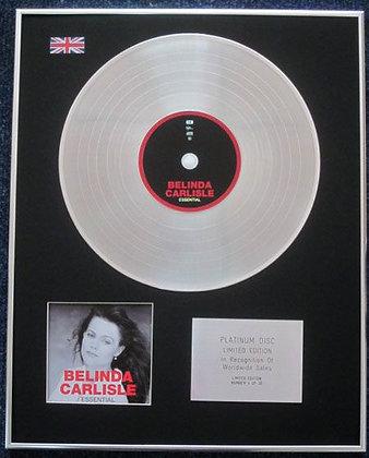 BELINDA CARLISLE - Limited Edition CD Platinum LP Disc - THE ESSENTIAL