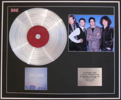 KILLERS  CD Platinum Disc+Photo- HOT FUSS