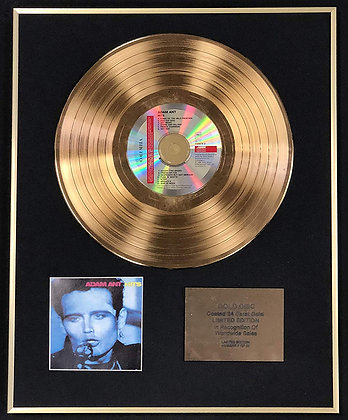 Adam Ant - Exclusive Limited Edition 24 Carat Gold Disc - Hits