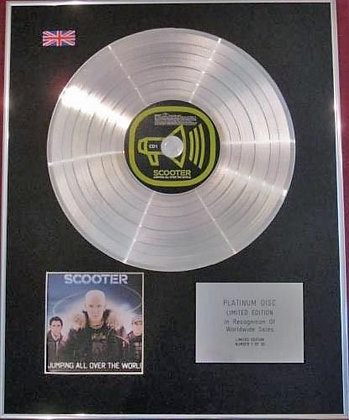 SCOOTER - CD Platinum Disc - JUMPING ALL OVER THE WORLD