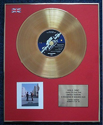 Pink Floyd - CD 24 Carat Gold Coated LP Disc - Wish You Were Here