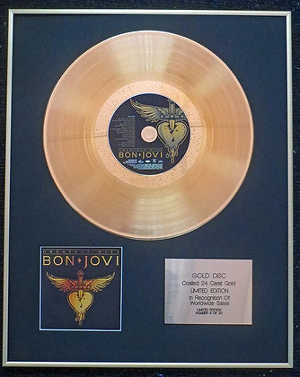 Bon Jovi - Exclusive Limited Edition 24 Carat Gold Disc - Greatest Hits