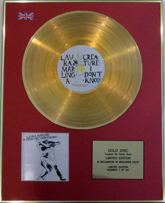 LAURA MARLING- Limited Edition 24 Carat CD Gold Disc - A CREATURE I DONT KNOW