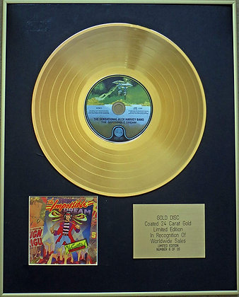 ALEX HARVEY BAND - Exclusive Limited Edition 24 Carat Gold Disc - THE IMPOSSIBLE