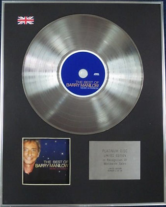BARRY MANILOW - Limited Edition CD Platinum Disc - THE THE BEST OF