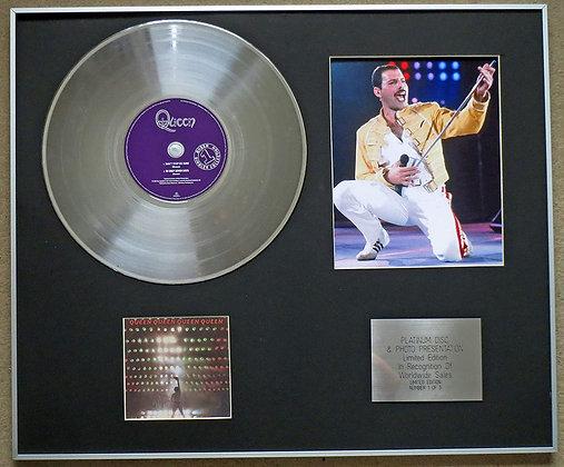 QUEEN - Platinum Disc CD Single + Photo - DON'T STOP ME NOW