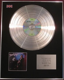 BOB SEGER-  CD Platinum Disc - BEAUTIFUL LOSER