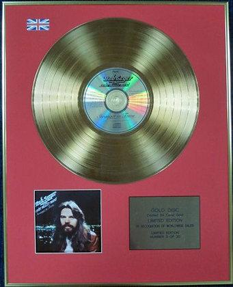 BOB SEGER - Ltd Edition CD 24 Carat Coated Gold Disc - STRANGER IN TOWN