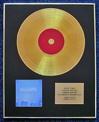Killers - Limited Edition CD 24 Carat Gold Coated LP Disc - Hot Fuss