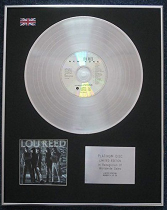 LOU REED - Limited Edition CD Platinum LP Disc - NEW YORK
