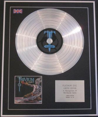 TRIVIUM - CD Platinum Disc - THE CRUSADE