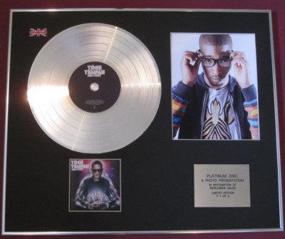 TINIE TEMPAH - Platinum Disc + Photo - DISC-OVERY