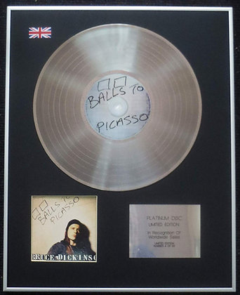 Bruce Dickinson (of Iron Maiden) - Limited Edition CD Platinum LP Disc - Balls t