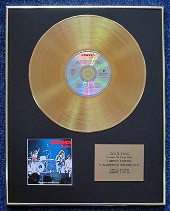 Ramones - Limited Edition CD 24 Carat Gold Coated LP Disc - It's Alive
