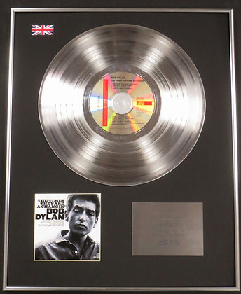 BOB DYLAN - Limited Edition CD Platinum LP Disc -THE TIMES THEY ARE A-CHANGING
