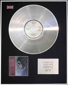 BOB DYLAN - CD Platinum Disc - BLOOD ON THE TRACKS