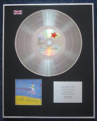 Cerys Mattthews - Limited Edition CD Platinum LP Disc - Cockahoop