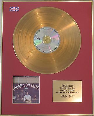 THE DOORS - Limited Edition 24 Carat CD Gold Disc - MORRISON HOTEL
